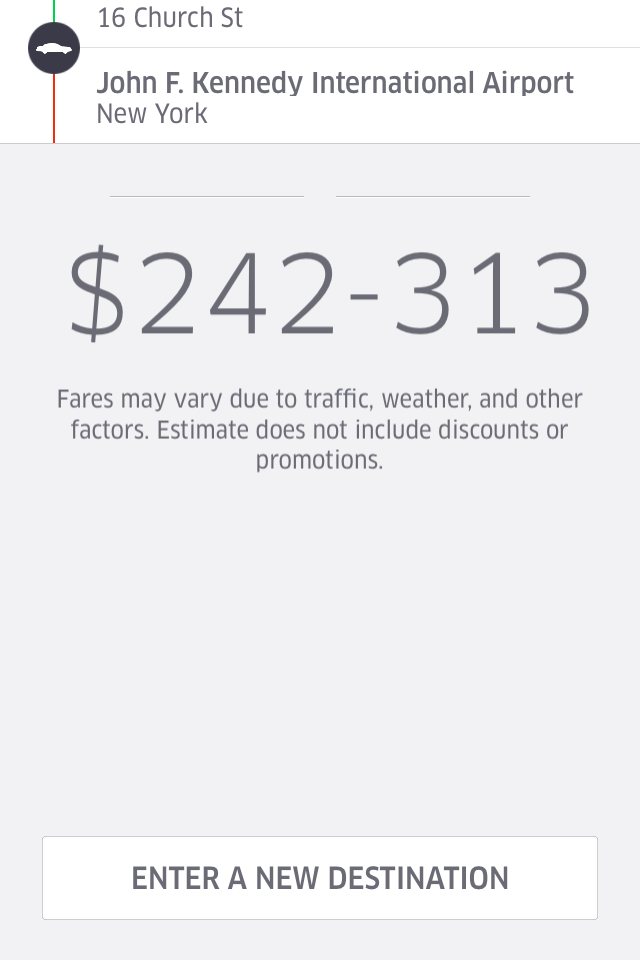Uber: For those of us that don't need money.