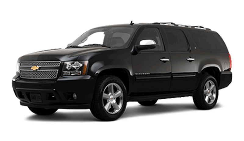 SUV Service - With room for up to 6 passengers with luggage, our rugged Chevy Suburban SUV's are the way to go when you need some extra room.