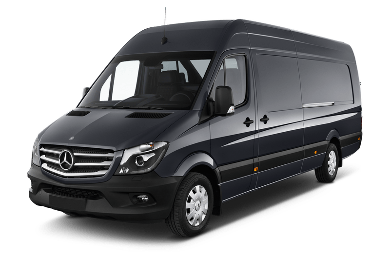 Starting from  $159.00* - We offer two types of Sprinters - our 10 passenger standard Shuttle or our VIP limo style with seating for up to 12. With awesome head room and incredible luggage capacity, it's no wonder this Mercedes truck is everyone's favorite new way to get around!*Flat Rate only. Does not include gratuity or tolls.