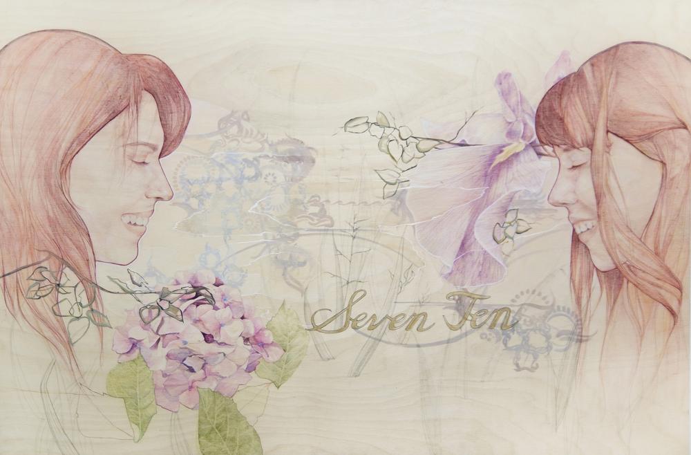 """Oil, Acrylic, Watercolor, Pencil Colored Pencil, Micron, Copic Marker  """"24x36""""  Raw Birch Panel"""