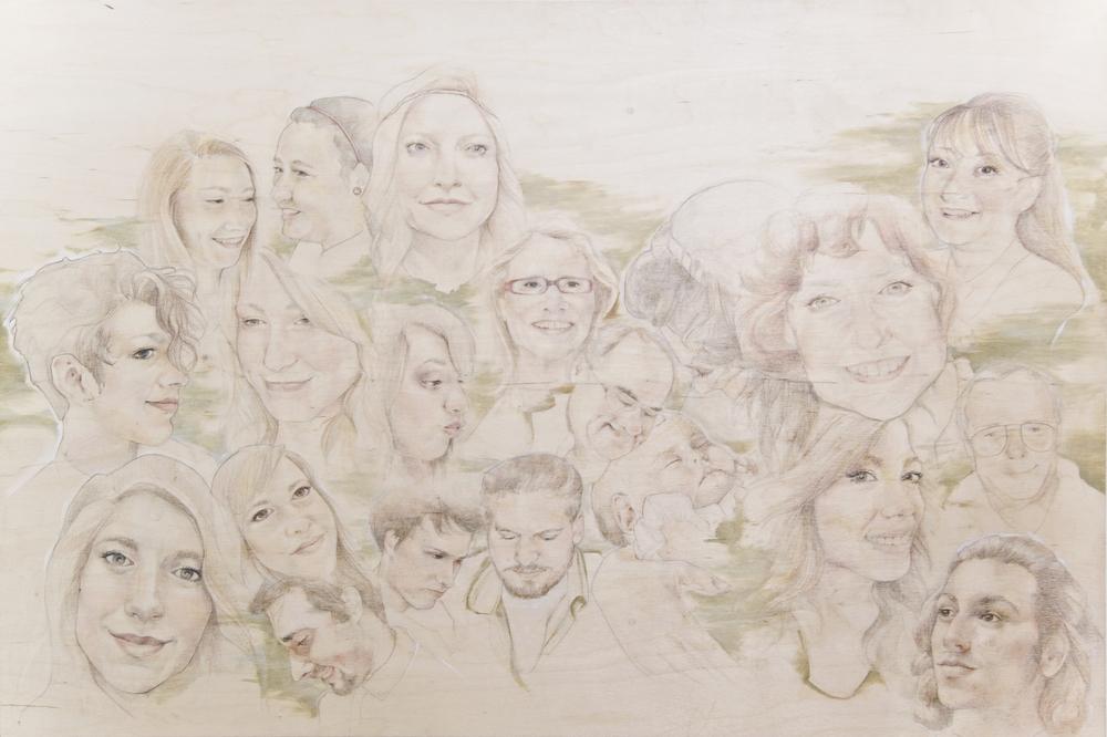 """Oil, Pencil, Colored Pencil  """"24x36""""  Raw Birch Panel"""