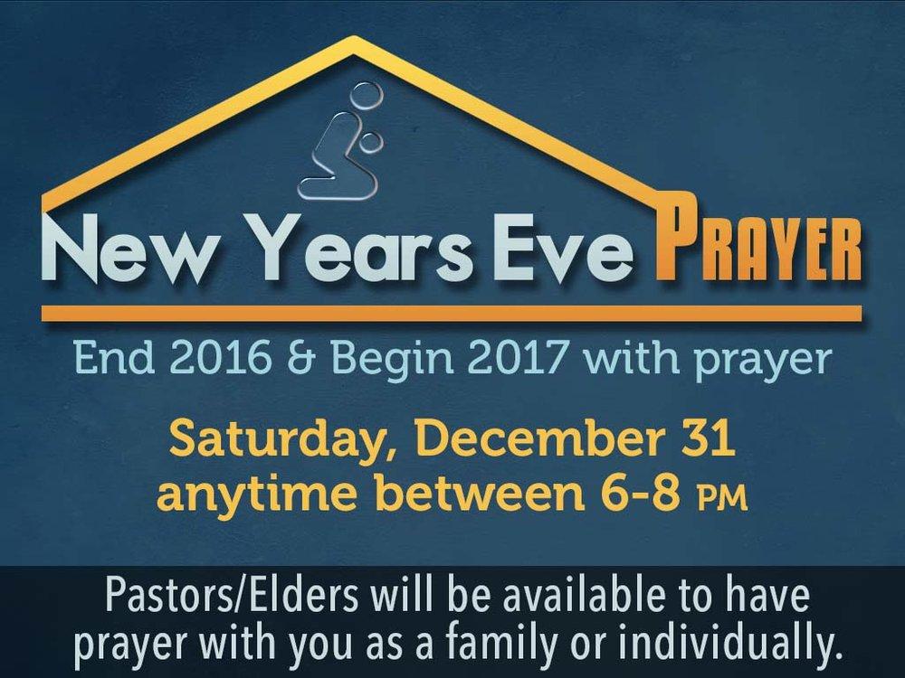 New Year\'s Eve Prayer — First Alliance Church Toccoa
