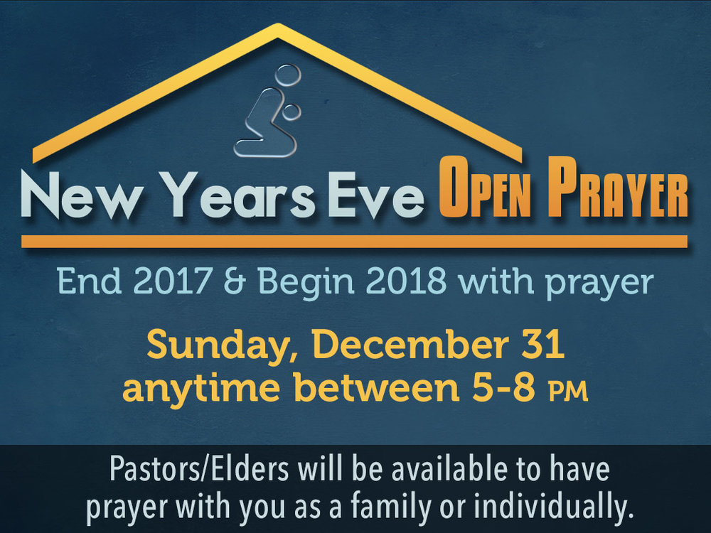 New Year\'s Eve Open Prayer — First Alliance Church Toccoa