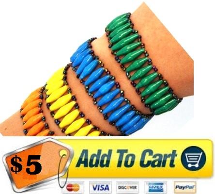 African Paper Bracelet