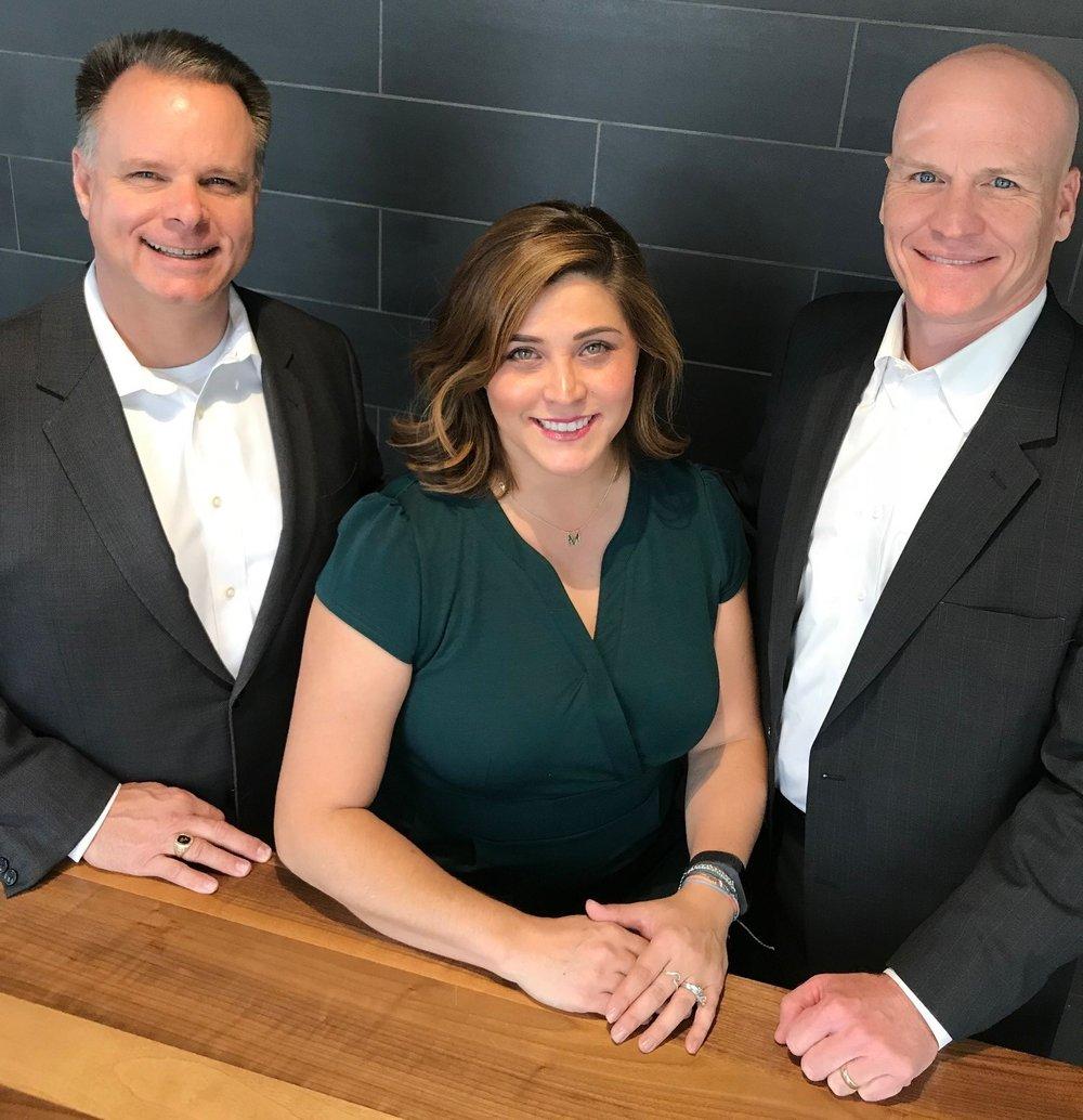 ACI Boland Business Development Team (L-R), Michael Gansman, Merri Cross, Kip Dunn. Photo courtesy ACI Boland Architects.