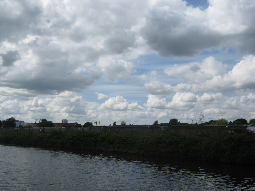 Part of the old Manchester Shipping Canal, it is now a large derelict island. I covered this when I studied architecture, our project was to turn it into a lush nature reserve. Sadly it never happened