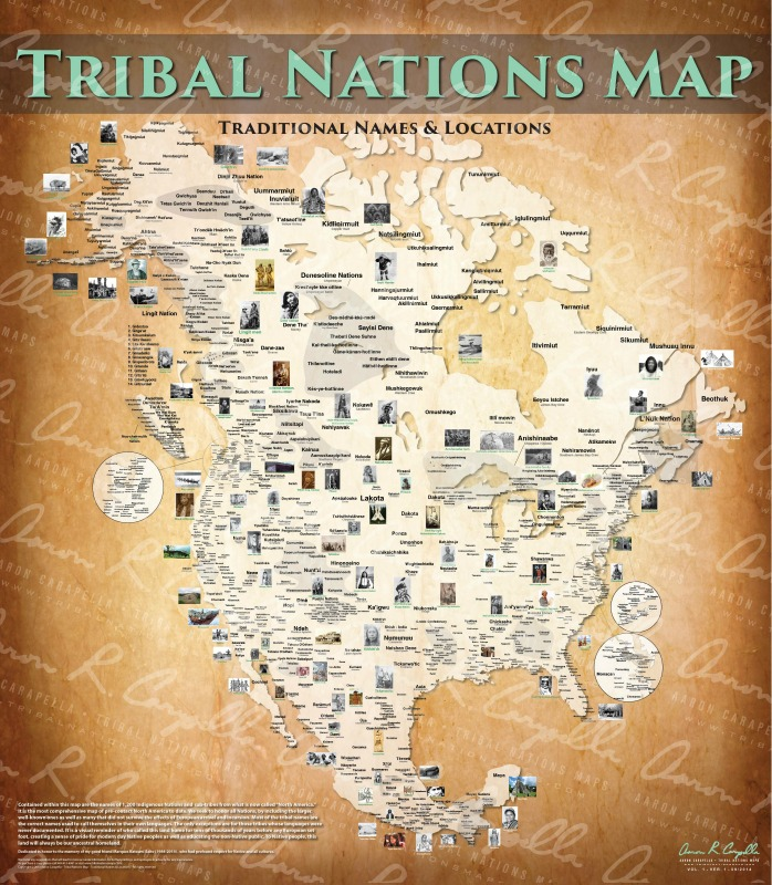 The Tribal Nations Map : US/Canada combined