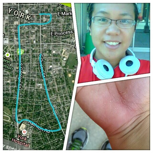 Jogged the city and took a nose dive to the pavement. What doesn't kill you makes you stronger right?