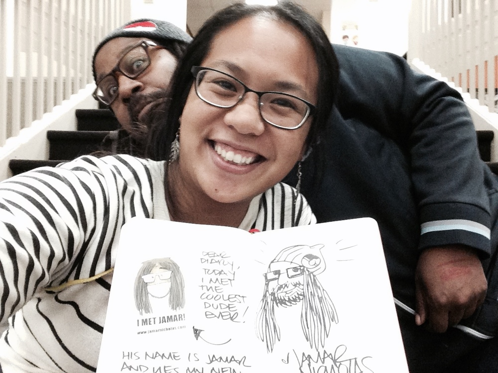 Jamar Nicholas doodles on my page.