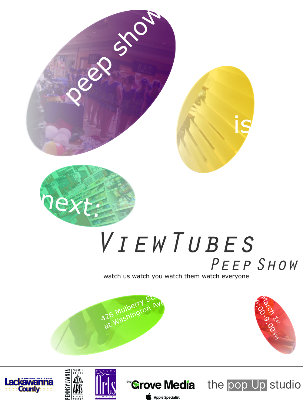 Peep Show is March 1st from 6-9 PM at 426 Mulberry St.