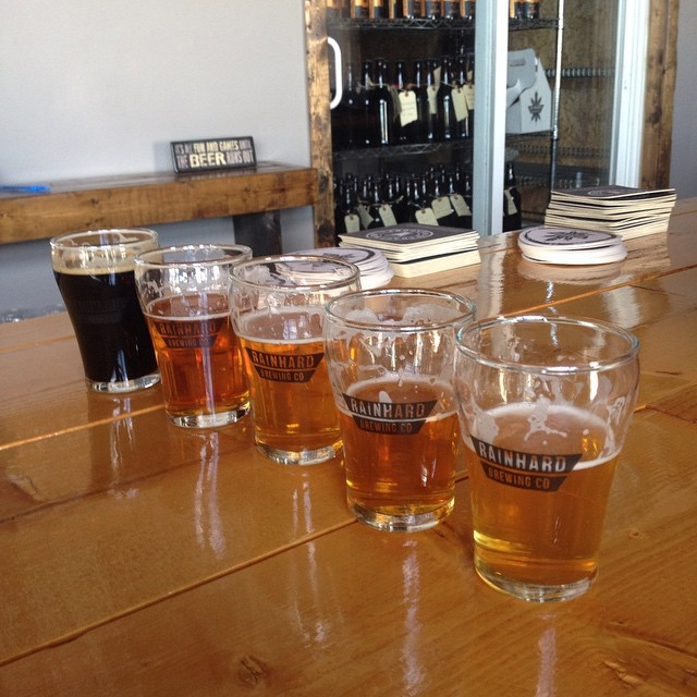 Tasting flight @ Rainhard Brewing