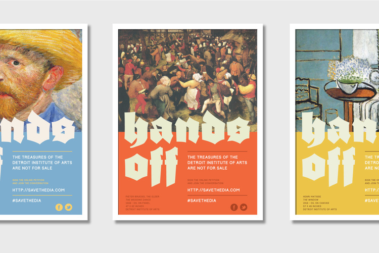Hands Off the DIA Poster series