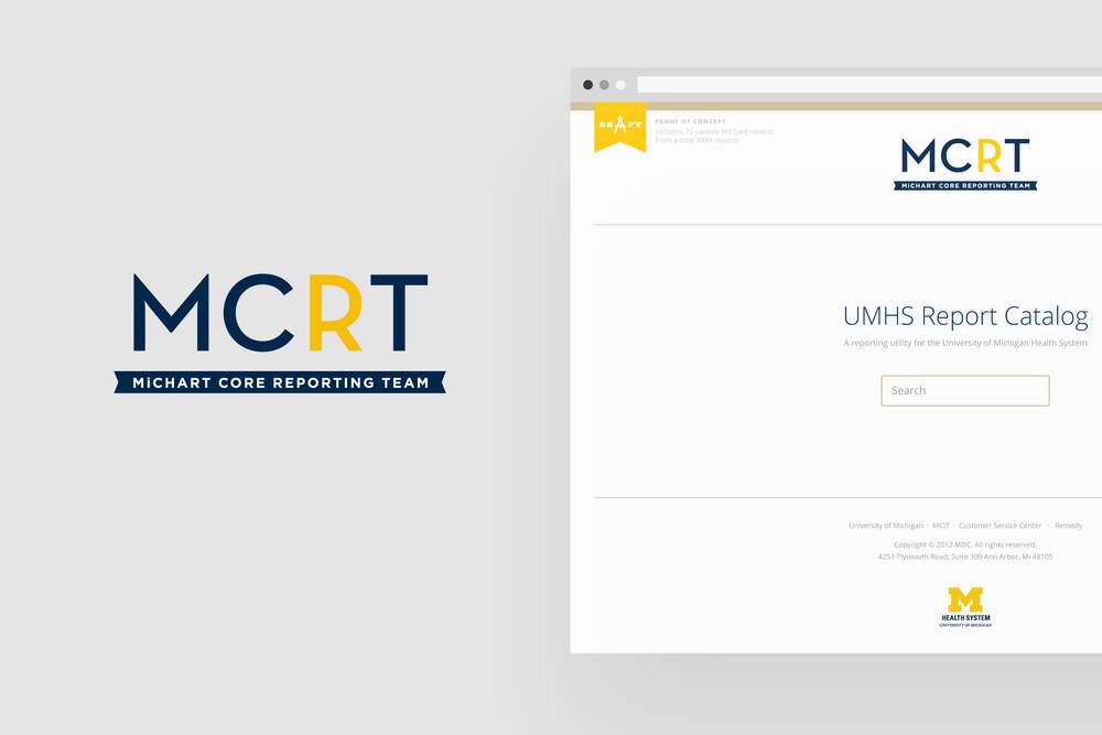 UMHS Report Catalog Identity and website