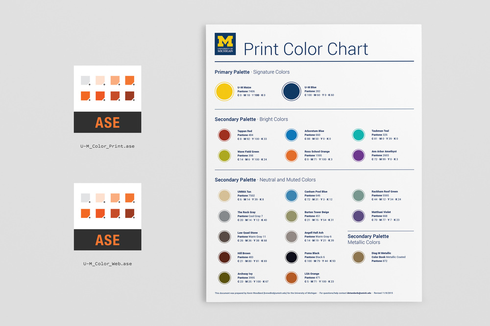 U-M Color Swatch Files Brand Standards