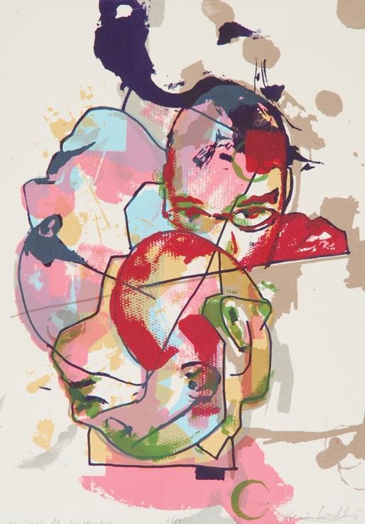 Self portrait 8 color screenprint 2008