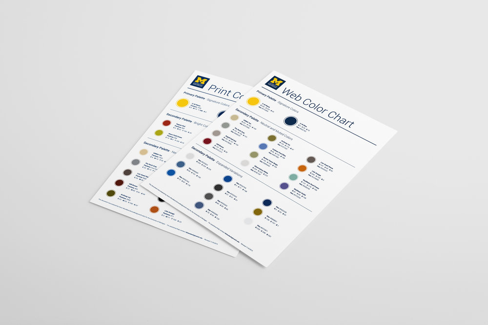 Print color chart and web color chart