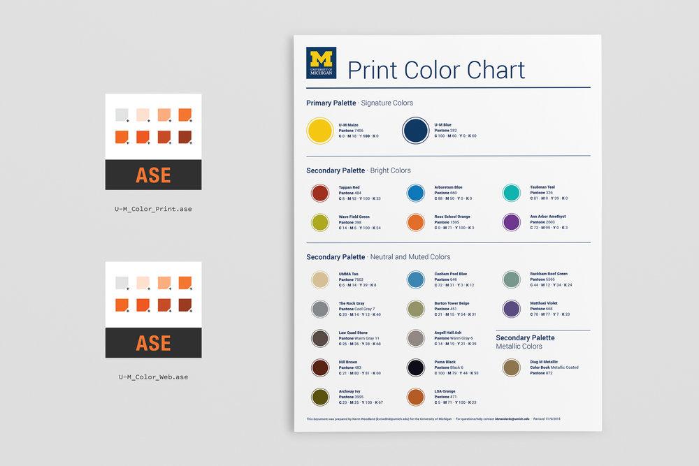 U-M Color Swatches - Identity / 2015