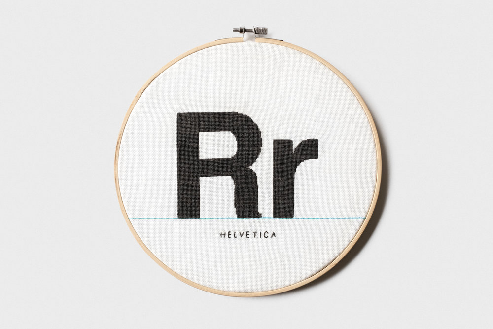 Helvetica Cross Stitch - Cross Stitch / 2018