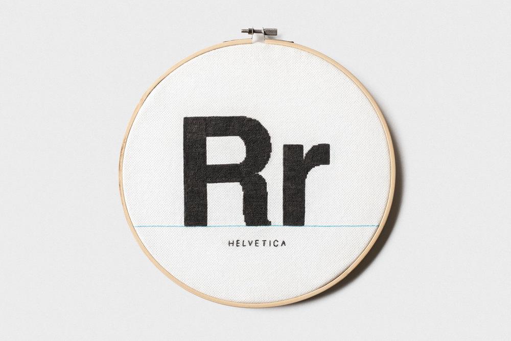 Helvetica Cross Stitch - Cross Stitch / 2018