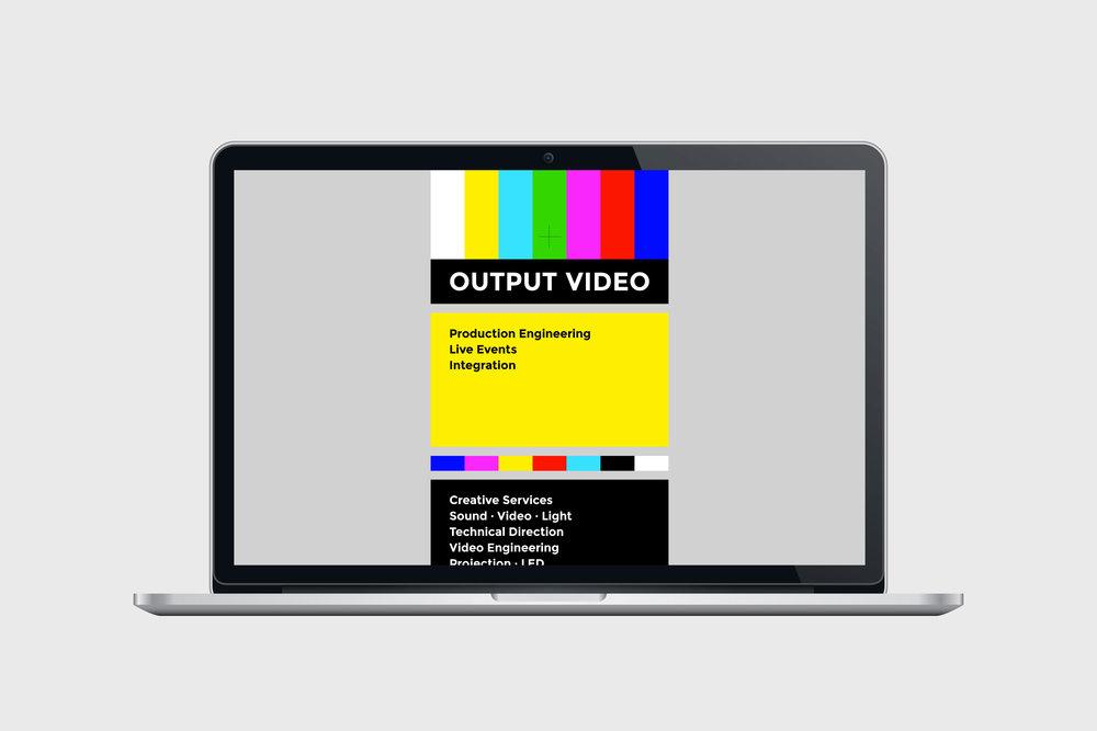 Output Video - Identity & Website / 2013