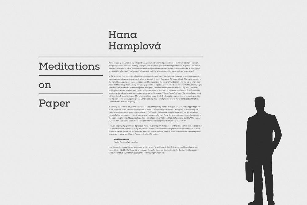 Hannah Hamplova - Exhibition Graphics / 2013