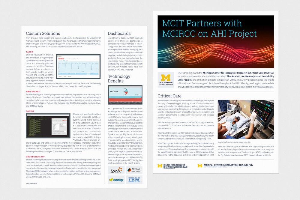 AHI Marketing Sheet - Promotional Material / 2015