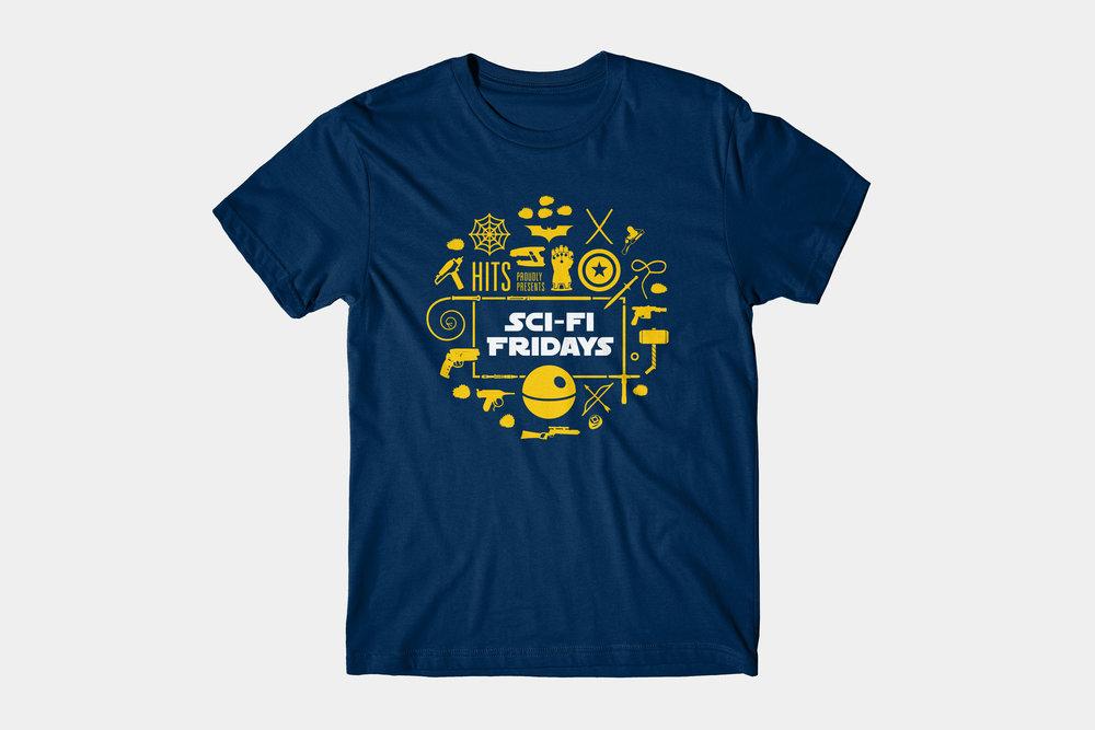 HITS Sci-Fi Fridays T-shirt - T-shirt / 2017