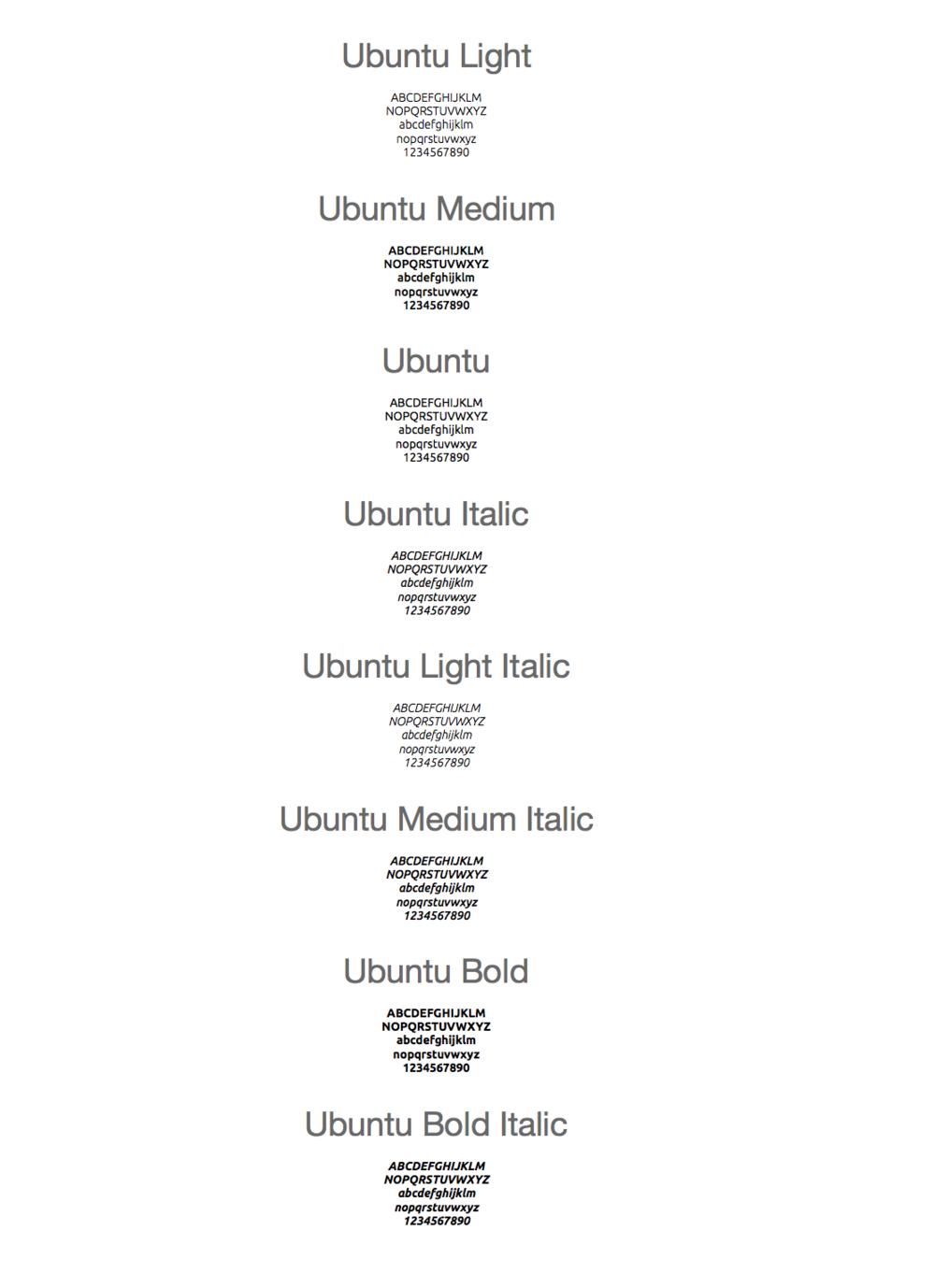 Secondary Font: Ubuntu —