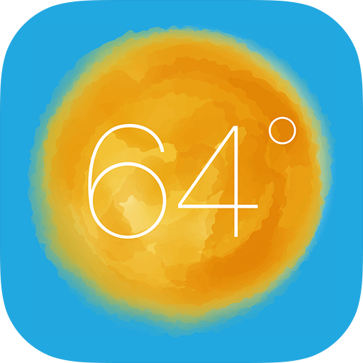 Reimagined iOS 7 app icon for weather.