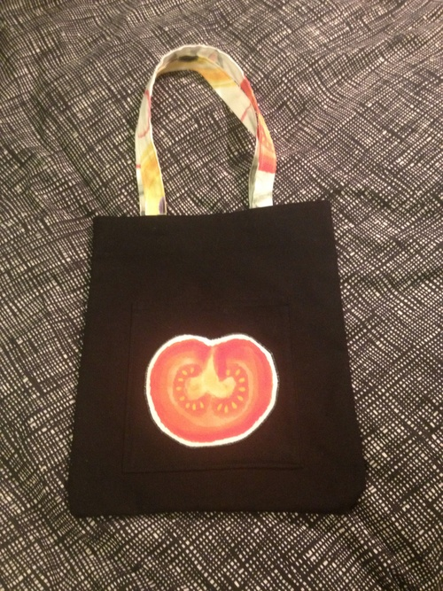 One of a kind tote bag by Starkis.