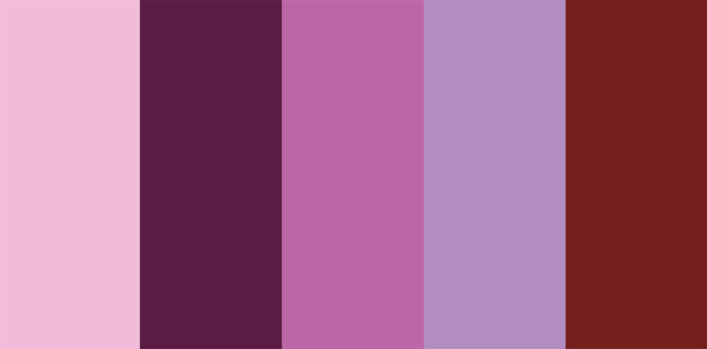 Palettes to go with pantone 39 s 2014 color radiant orchid - What colors go with purple ...