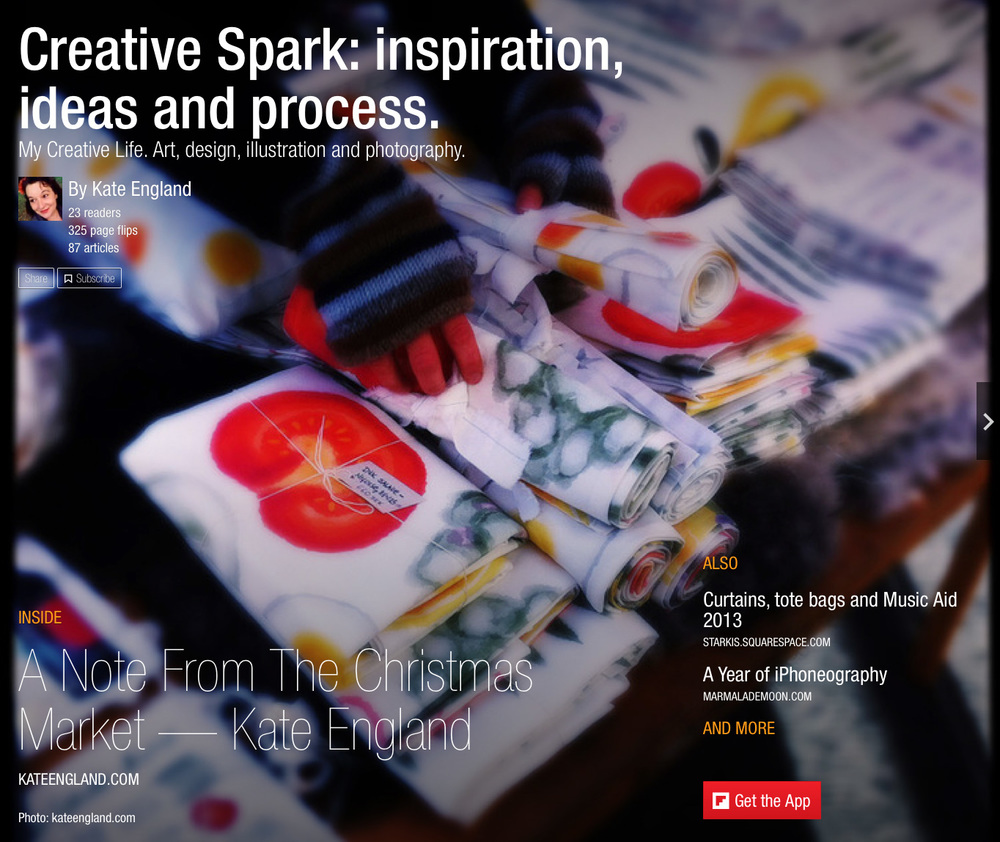 Creative Spark. A magazine with my inspiration, ideas and process.
