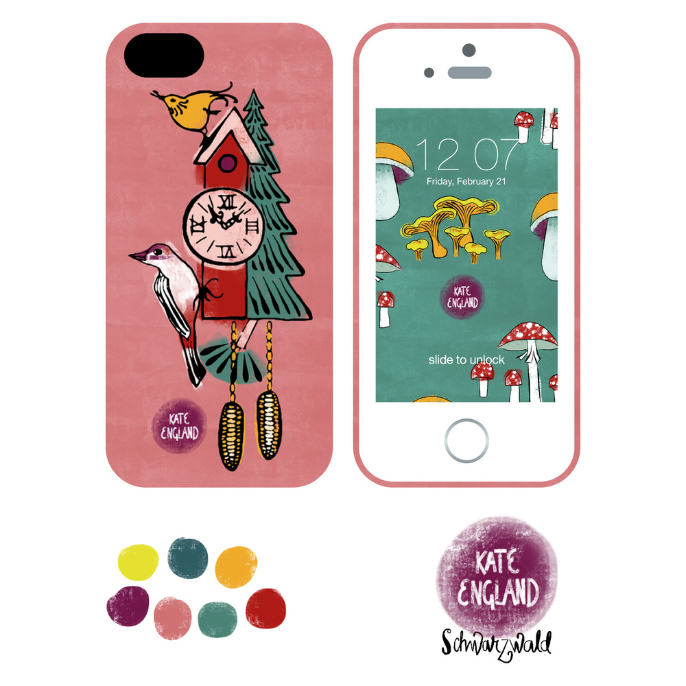 Schwarzwald: iPhone Ca... Cuckoo Clock Drawing