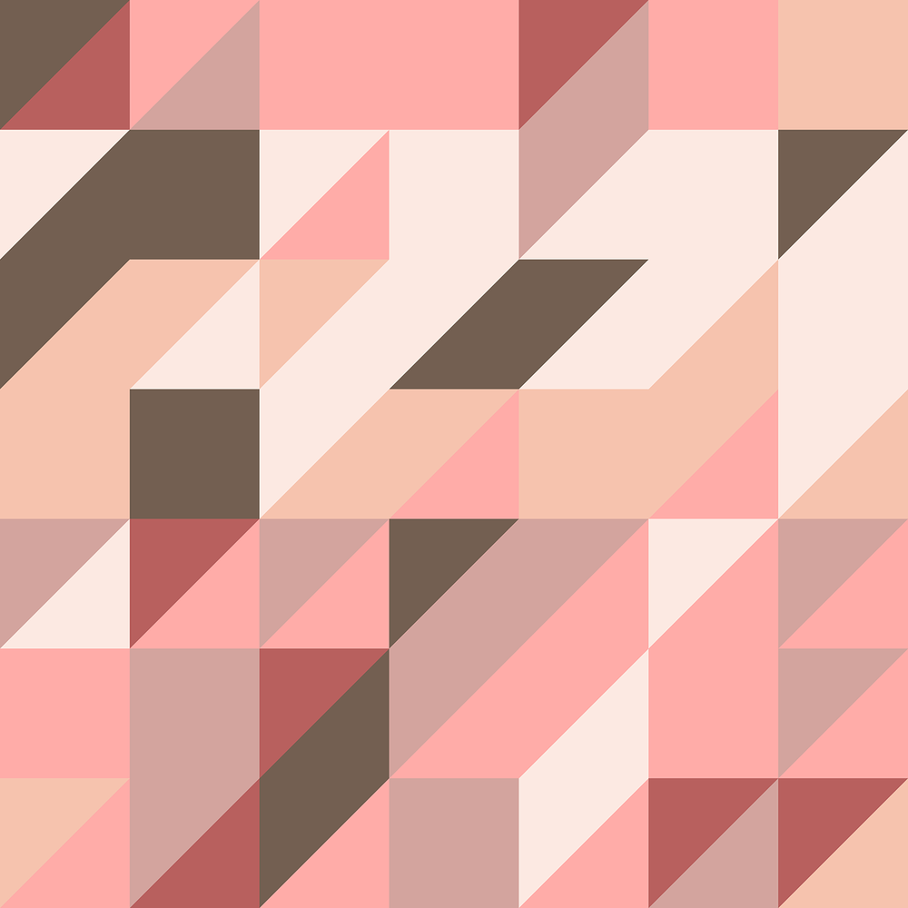Pink geometric pattern by Kate England.