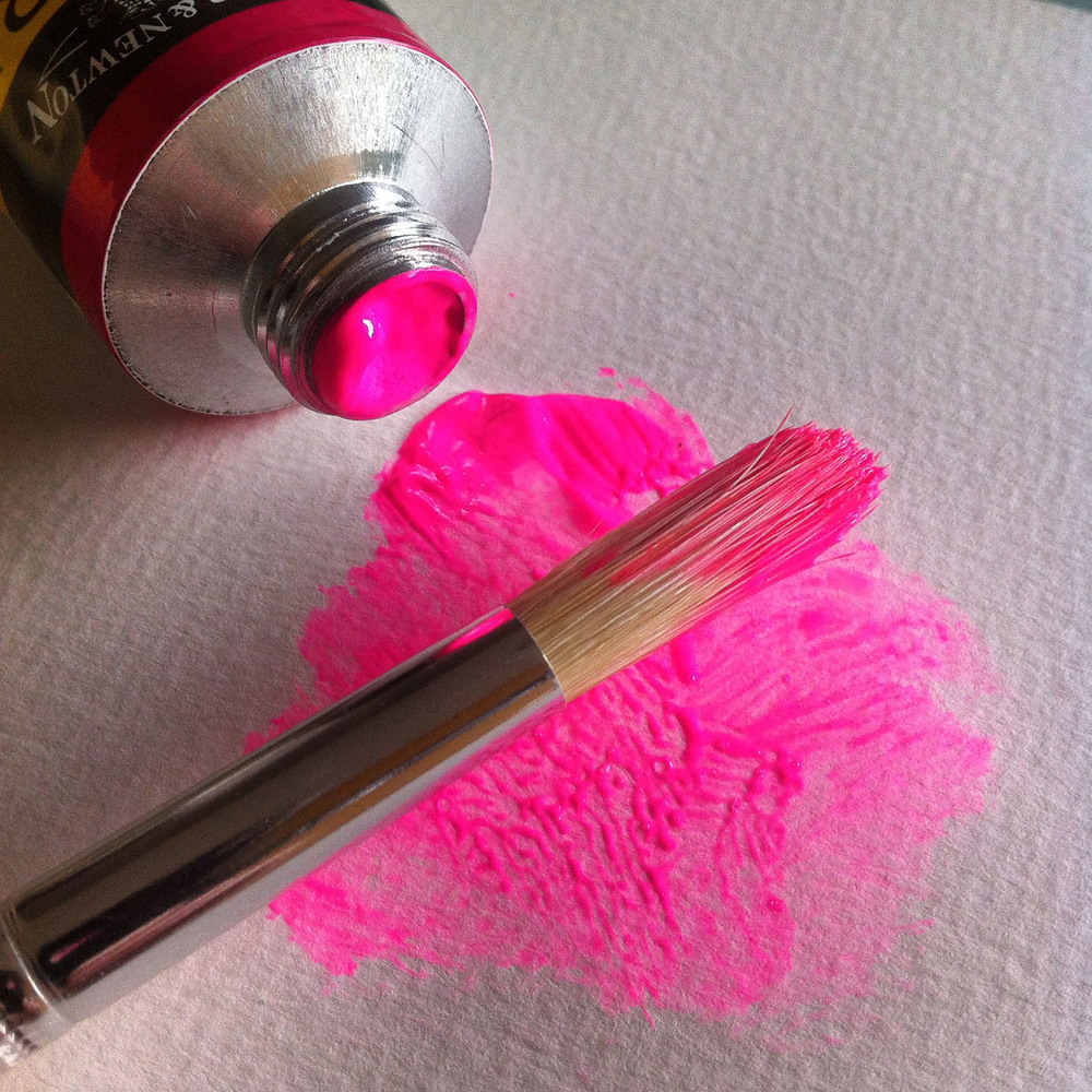 Opera Pink paint. iPhone photo by Kate England.
