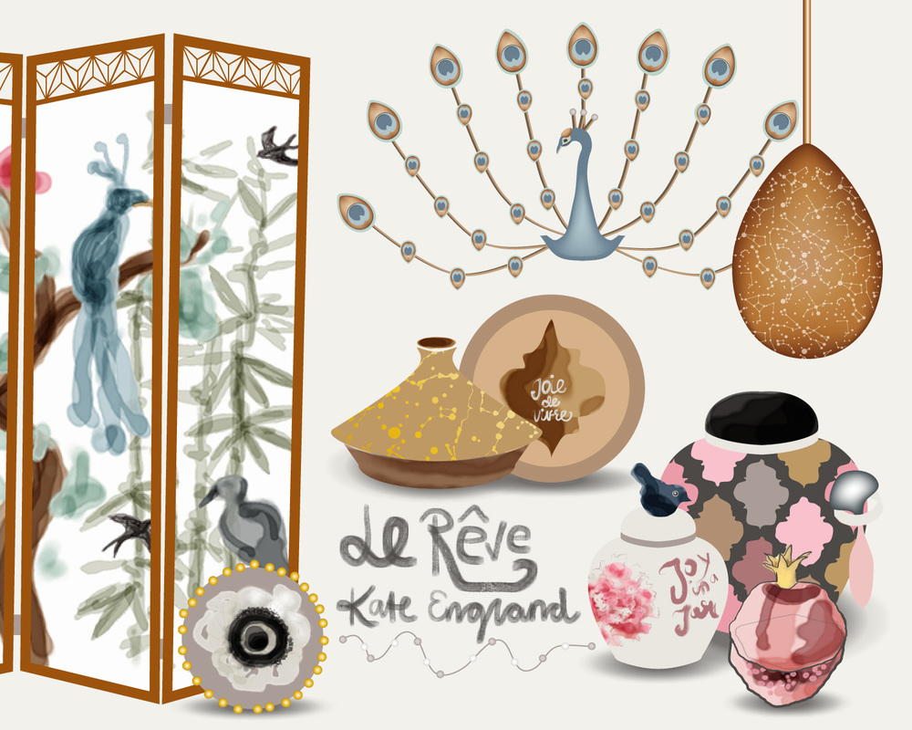 Le Rêve. Product design concepts for the home decor market.