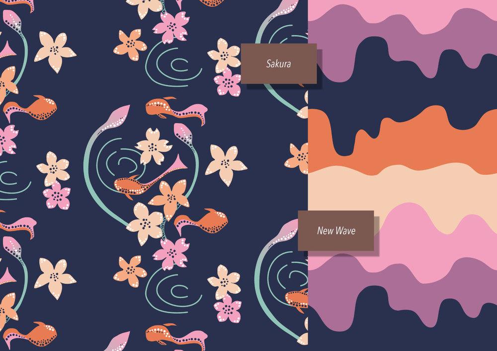 Patterns: Sakura Pond and New Wave