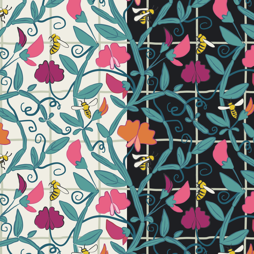 Sweetpeas-and-honeybees-pattern.png