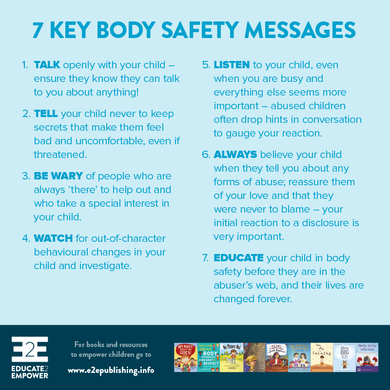7 Key Body Safety Messages - Would you like a copy?To download, right/control click on on the linkand select