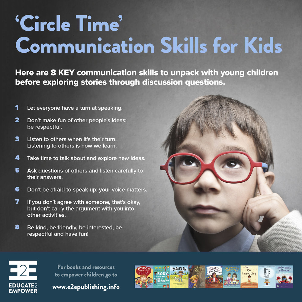 'Circle Time' Communication Skills for Kids - Would you like a copy?To download, right/control click on on the linkand select