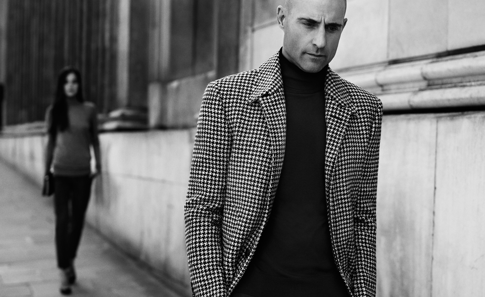 Coat by  Thom Browne   |  Rollneck by  John Smedley
