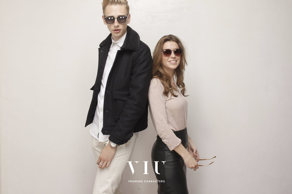 With Manon of VIU, both wearing S/S 2014 sunglasses. Photo © www.egoshooting.com.