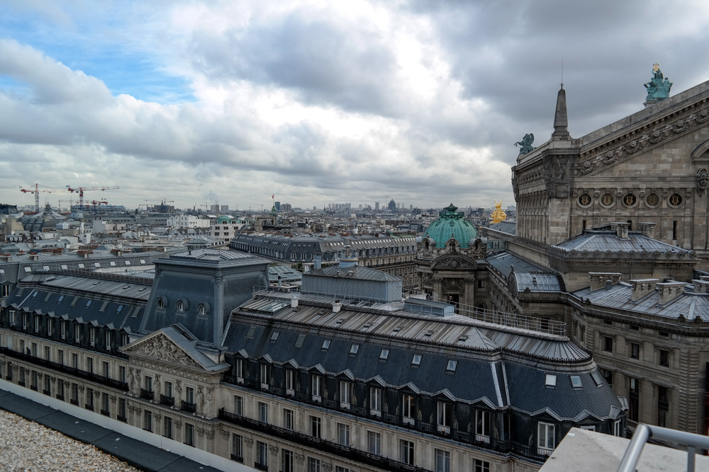 View from the roof of Gallery Lafayette