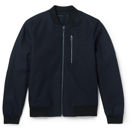 Cotton-Blend Bomber Jacket