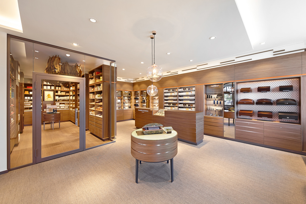 Inside the Davidoff store on Eisengasse 9 in Basel. Photo via Davidoff.