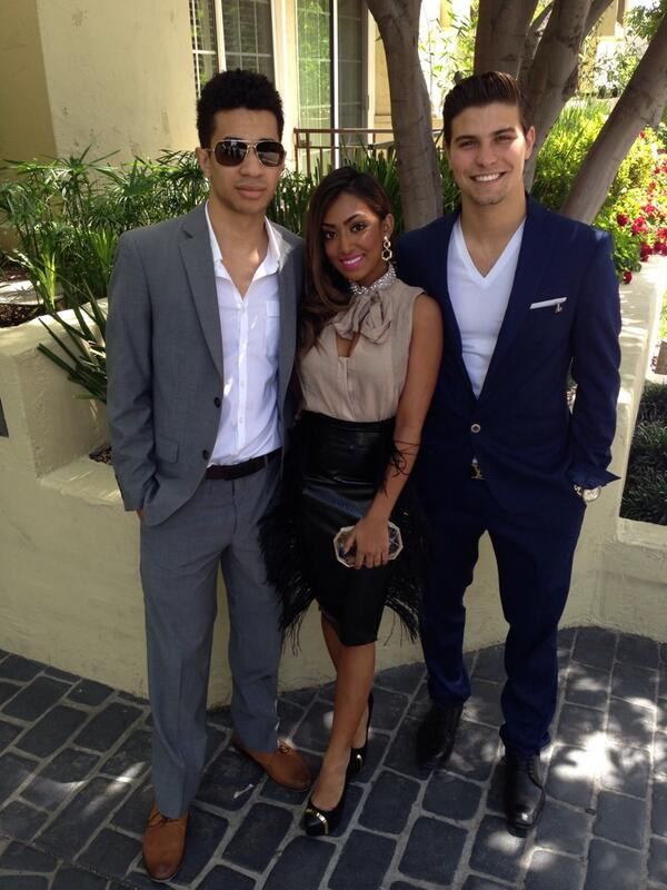 All set for the Kids' Choice Awards! Melinda Shankar wearing our Edge Drop earring.