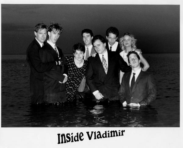 Inside Vladimir.That's Kevin peeking over TIna Fey'snoggin.