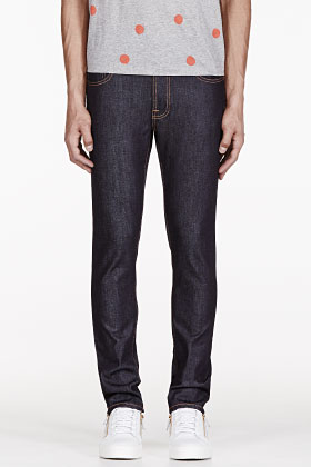 Nudie Raw Organic Tape Ted Jeans @ Ssense