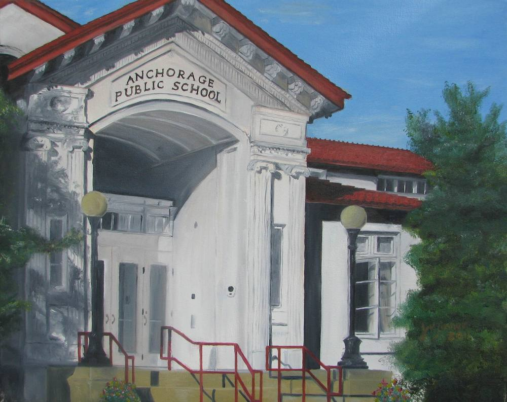 Anchorage Public School - 16x20 sold