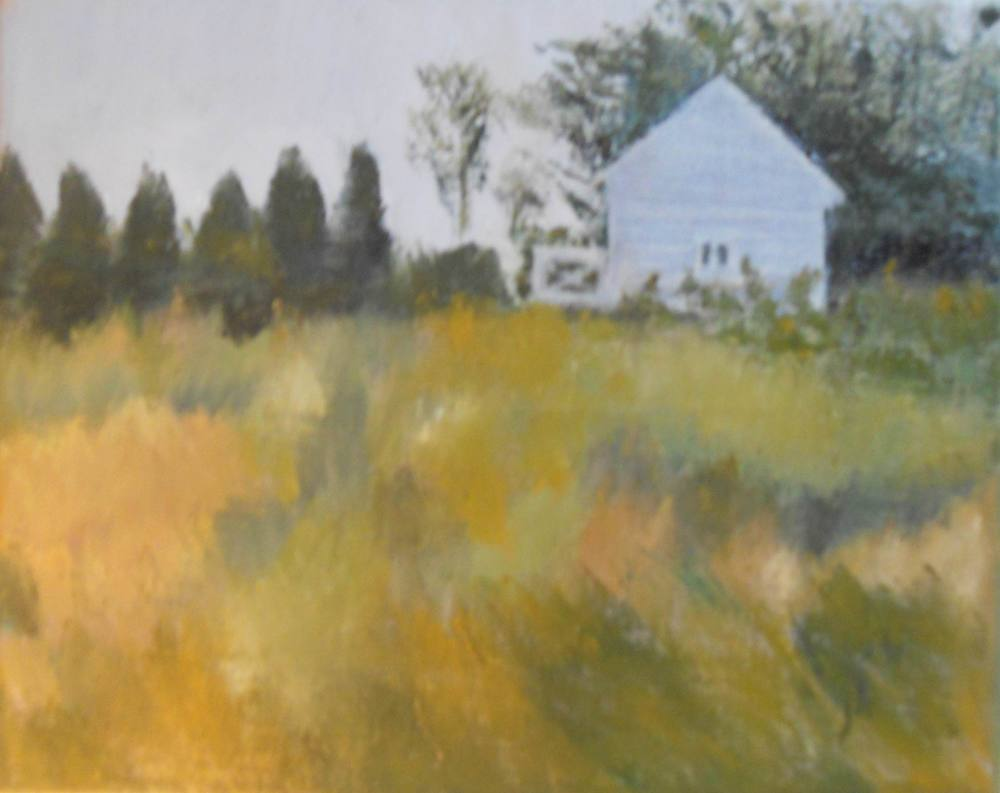 Little House in the Field - 8x10 on linen